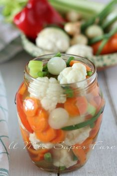 Giardiniera in agrodolce Easy Cooking, Cooking Recipes, Fish Stew, Good Food, Yummy Food, Antipasto, Cooking Instructions, Mediterranean Recipes, Desert Recipes