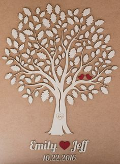 3D Wedding Guest Book Alternative Wedding Tree Wood Guest Book Rustic Wedding Guestbook Wedding Gift Tree Of Hearts Leaves  The 3D Wedding Guest Books are a huge trend right now. The idea behind this Alternative Guest Book is very clever, your guests sign their names on the leaves and after the wedding, you can actually put this beautiful Wedding Guest Book masterpiece into a frame and hang it in your home. PRODUCT DETAILS: •This is a custom Wedding 3D Guest Book Alternative made from wood…