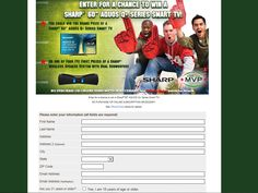 """Enter the SmartSource Game Day MVP Sweepstakes for a chance to win a Sharp 60"""" AQUOS Smart TV!"""