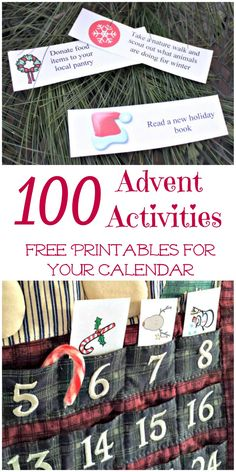 100 Activities for Your Advent Calendar {free printables!}