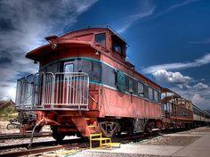 Verde Canyon Train Caboose in Clarkdale, Arizona near Sedona takes ...