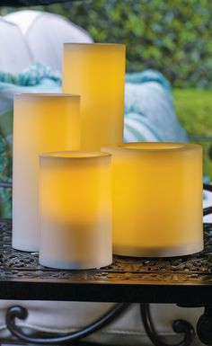 Controlled by a convenient remote, our Battery-operated Flameless Outdoor Candles create instant ambiance with the touch of a button.