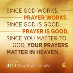 An excerpt from Before Amen by Max Lucado. Click through for more information about this book.