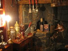 Miniature projects based on my love of all things creepy and small. Gnome House, Witch House, Halloween Village, Halloween House, Haunted Dollhouse, Dollhouse Miniatures, Dollhouse Ideas, Village Miniature, Monster Under The Bed