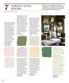 Paint colors for north-facing room (south-facing for Southern hemisphere)