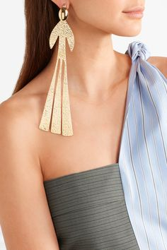 J.W.Anderson | Hammered gold-plated earring | NET-A-PORTER.COM
