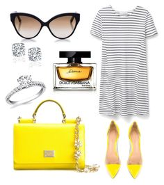 """""""Sunny spring ☀️"""" by te-iubesc-foarte-tare ❤ liked on Polyvore featuring MANGO, Gianvito Rossi, Dolce&Gabbana and Cutler and Gross"""