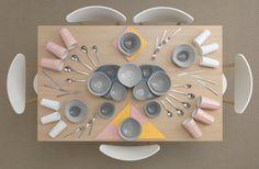 la tavola apparecchiata dal fotografo Carl Kleiner per la pubblicità Ikea