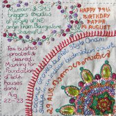 Million Little Stitches: Crazy Quilt Journal Project 2012