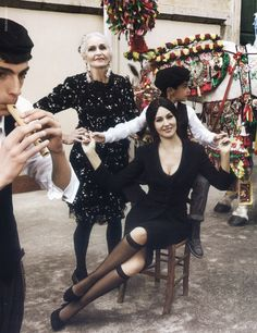 The brilliant Daphne Selfe looks ravishing in the Dolce and Gabbana campaign.
