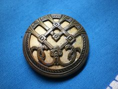 LG Vintage Art Nouveau Button by legacybuttons on Etsy, $21.25