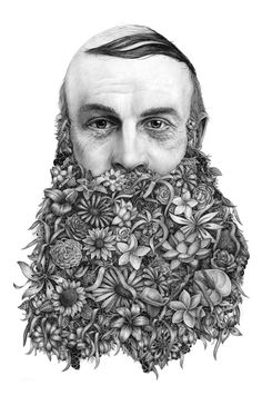 """Le-barbu.. another possible visual for the """"crazy hair day"""" lesson"""