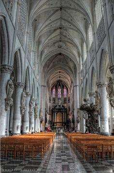 Interior of the Cathedral of Mechelen, Belgium