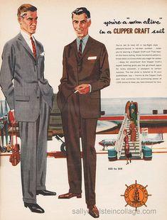 men's fashion 1950 | Mens fashion ad 1957- Top Flight fashion | Flickr - Photo Sharing!