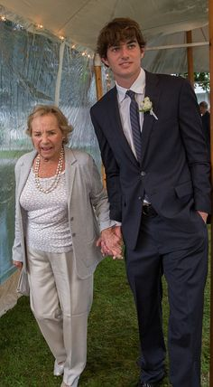 Ethel Kennedy and grandson Conor Kennedy-son of Robert F. Kennedy Jr. and Mary Richardson Kennedy