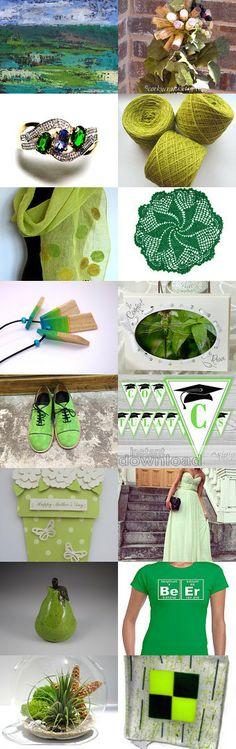 Beautiful gifts in green  by Milivoj on Etsy--Pinned with TreasuryPin.com