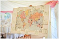 World Map Wedding Table Plan Used At Real Weddings: Maps available from www.theweddingofmydreams.co.uk