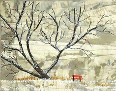"""kitlang:  """"Red Bench No.1"""" (c) Kit Lang 2013"""
