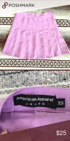 Purple lavender AA tennis skirt. Great condition. Barely worn. American Apparel Skirts Mini