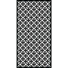 0.6 in. x 71.6 in. x 2.95 ft. Halo Recycled Plastic Charcoal Decorative Screen (5-Piece per Bundle)