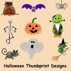 Halloween Thumbprints