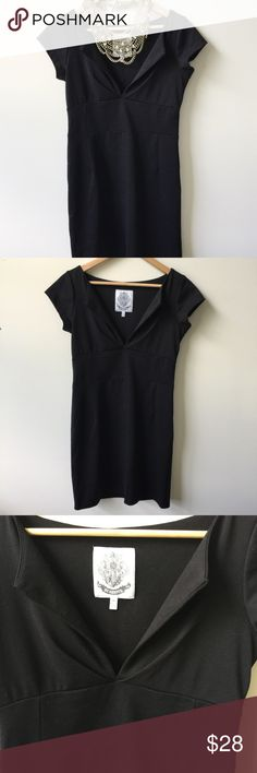 B.B. Dakota simple black dress - medium Excellent condition- like new!! Adorable little black dress by BB Dakota! Super soft stretchy material. Very flattering and form fitting! (Necklace not included) BB Dakota Dresses