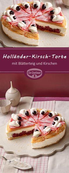 Holländer-Kirsch-Torte: Leckerer Klassiker mit Blätterteig und Kirschen #torte #kirschtorte #blätterteig