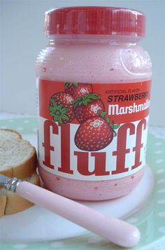"""marshmallow fluff recipes It seemed only fitting that I end """"Marshmallow Week"""" with this. Who knew? Strawberry Fluff, Strawberry Shortcake, Cute Food, Yummy Food, Japanese Snacks, Cute Desserts, Aesthetic Food, Food Porn, Snack Recipes"""