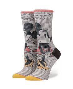 b8e97ea6d STANCE DISNEY SOCKS  TICK TOCK MINNIE  FIT NO. 515 SIZE M (8 - 10.5)