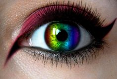 Where can I buy rainbow contact lenses? Which brand is the best? - Where can I buy rainbow contact lenses? Which brand is the best? Cool Contacts, Best Colored Contacts, Gorgeous Eyes, Pretty Eyes, Cool Eyes, Rainbow Eye Makeup, Rainbow Eyes, Contact Lenses For Sale, Crazy Eyes