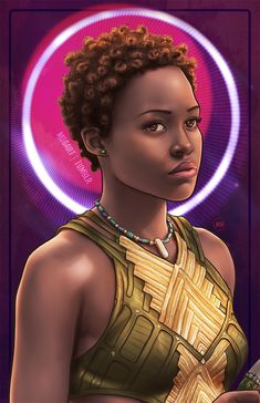 Black Panther: Nakia (fan art) This is beautiful Nakia Black Panther, Shuri Black Panther, Black Panther Art, Black Panther Marvel, Black Love Art, Black Girl Art, Black Girls Rock, Black Is Beautiful, Black Girl Magic