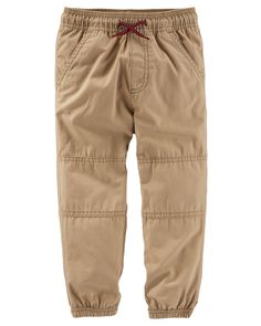Toddler Boy Canvas Joggers from OshKosh B'gosh. Shop clothing & accessories from a trusted name in kids, toddlers, and baby clothes.