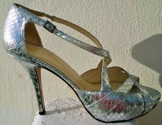 Kate Spade Heel Silver Shoes Made In Italy