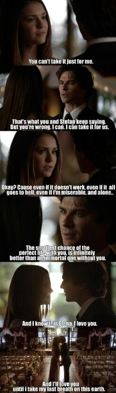 "#TVD 6x21 ""I'll Wed You in the Golden Summertime"" - Elena and Damon"