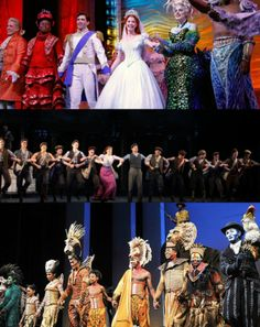 Curtain calls Disney Style (The Little Mermaid, Newsies, The Lion King)