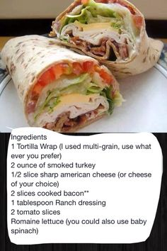 Turkey ranch club wrap  Recommend the most authentic chinese food recipes blog==  http://yzenith.com