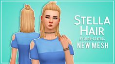Sims 4 CC's - The Best: Stella Hair for Females by MoonCraters