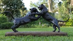 by Jonathan Parkinson titled: 'Fighting Tigers (Bronze Realistict sculpture)'. African Elephant, African Animals, Abstract Sculpture, Bronze Sculpture, Big Cats, Cool Cats, Cat Statue, Animal Sculptures, Wild Life