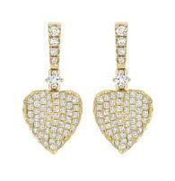 KIKI McDonough 'Lauren' Yellow Gold Diamond Pave Leaf Earrings
