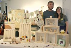 Shadow boxes for jewelry - blog post at make:Tulsa shows several other booth ideas for craft shows