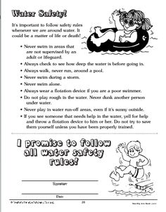 Printables Water Safety Worksheets water safety word scramble kidactivities coloring and activity these important rules should be reviewed at the beginning of summer displayed all