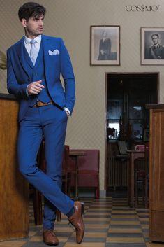 Obleky světle modrá značka> VINTAGE - Cossmo