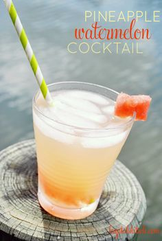 Summer Drinks: Pineapple Watermelon Cocktail