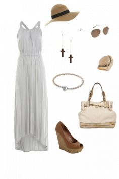 Amazing Grey Jersey Maxi Dress! #outfit minus shoes