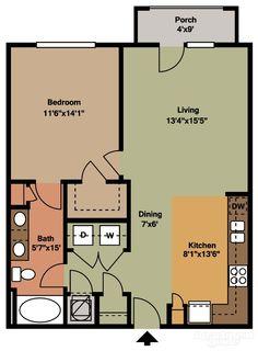 A6 -- 1 bedroom 1 bathroom