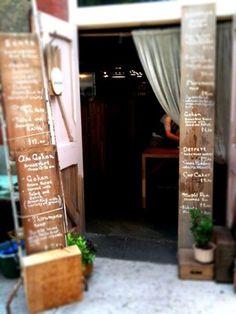 menus at the door