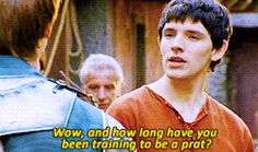 Merlin (BBC) gif ...this line is when I sold myself to this show