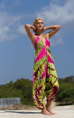 Living The Dream Tie Dye Hareem Jumpsuit - SilkFred