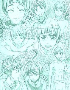 Free! ~~ Sketches of Aiichiro Nitori by Ersm.deviantart.com on @deviantART