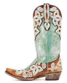 Old Gringo Women's Marrione Boot - Brass/Aqua